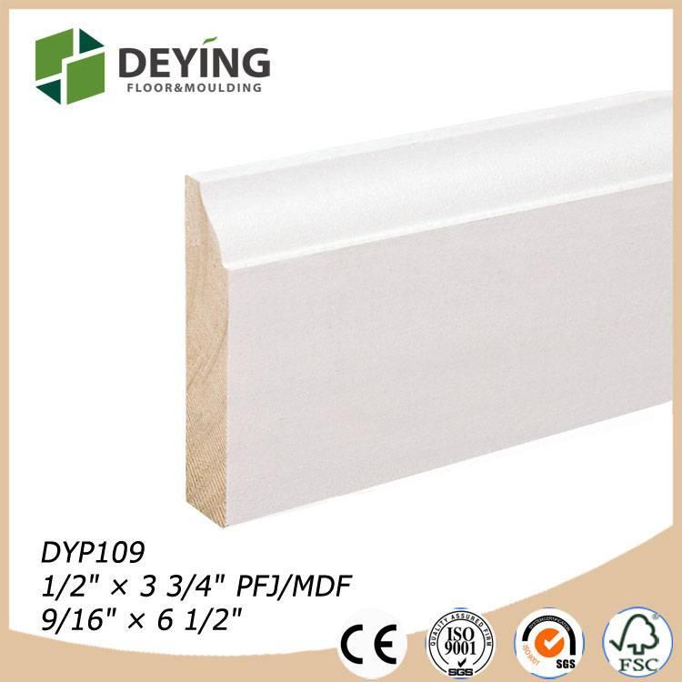 primed MDF & Wood baseboard mouldings