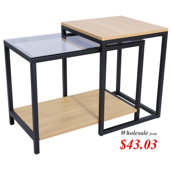 Lifewit 2-Piece End Table Without Drawer