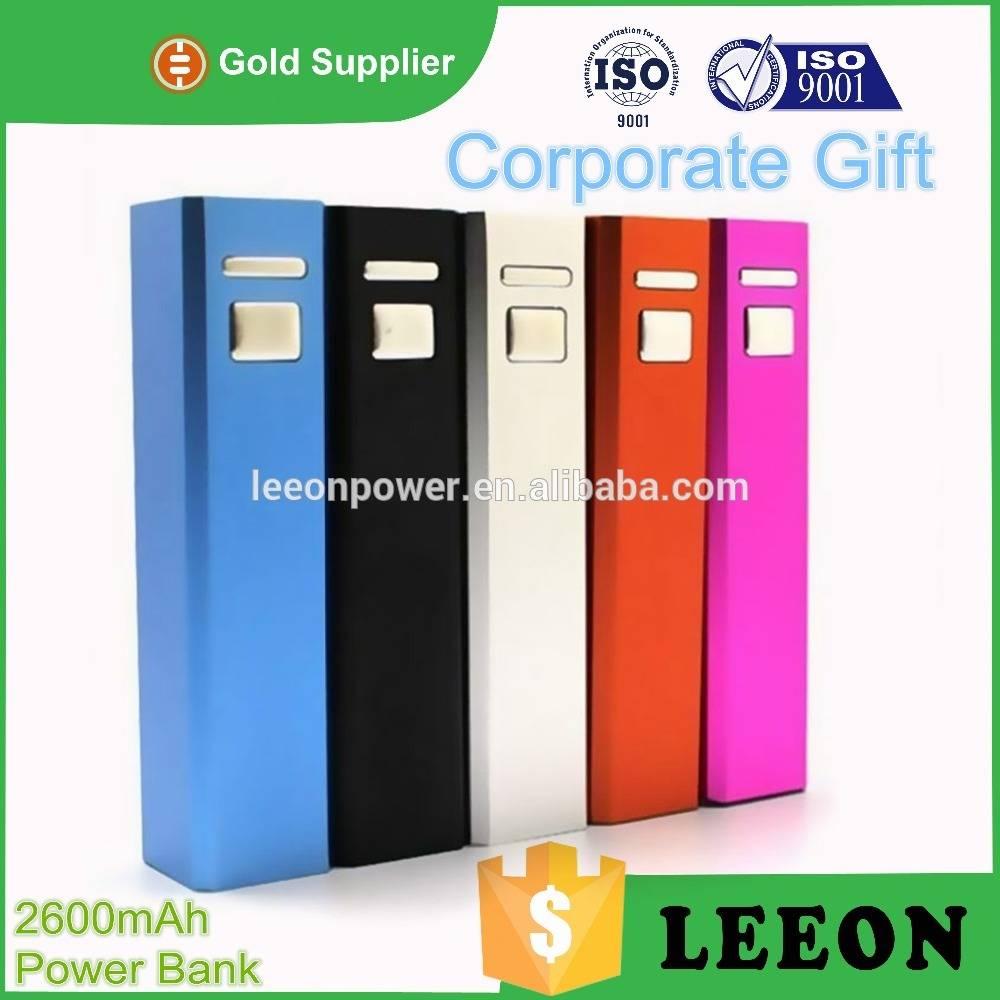 Popular product aluminum portable power bank 2600mah