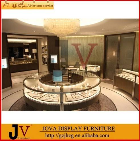 Factory free design interior shop decoration jewelry decoration shop