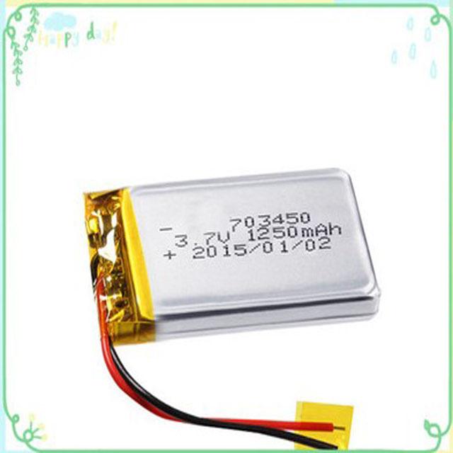 2017 KC model 703450 3.7V 1250mAh li-ion battery China manufactures