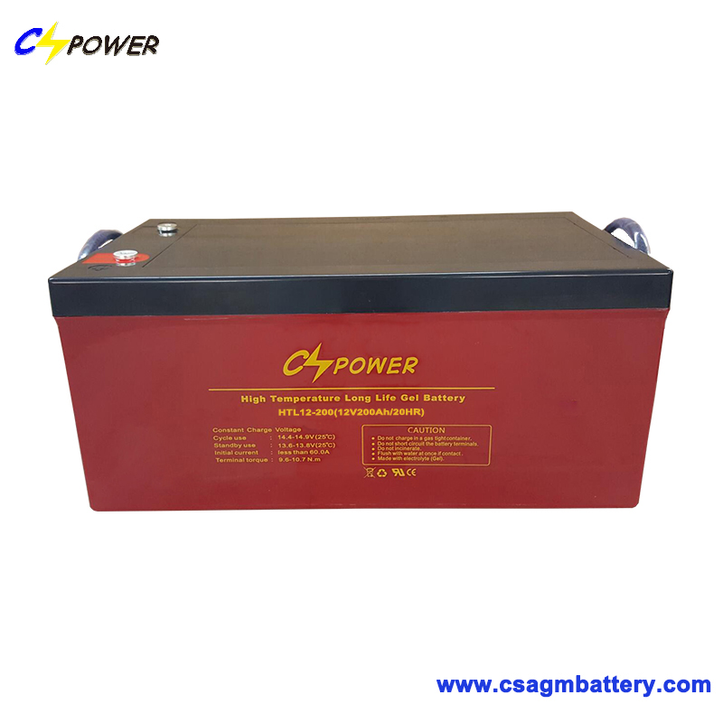 HTL12-200 Deep Cycle Solar Panel Gel Battery 12V200ah Storage Battery