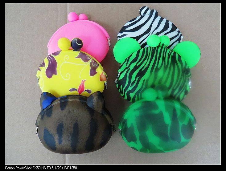 Fashion silicone purses bowknot silicone bag
