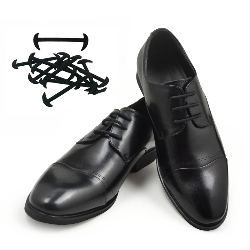 Tieless Silicon Shoe Laces For Leather shoes men gift