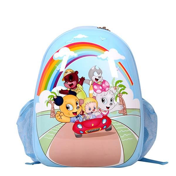 Rainbow SMJM Oval Shape Waterproof School Backpack Bags