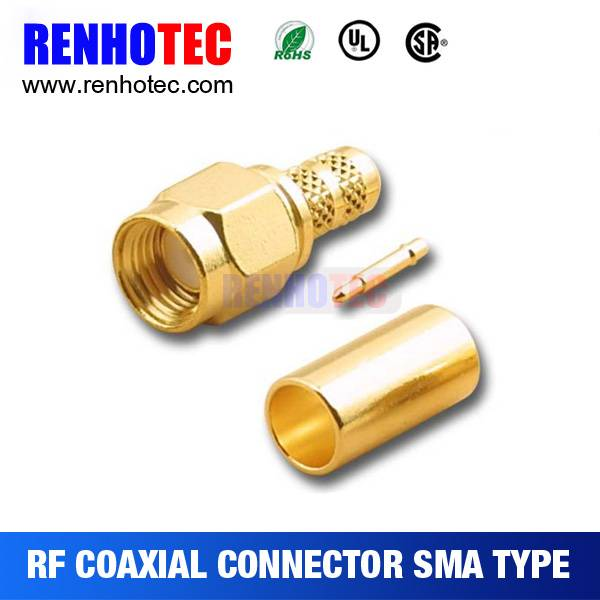 Online Shopping RF Straight Crimp Type Sma Plugs Connector