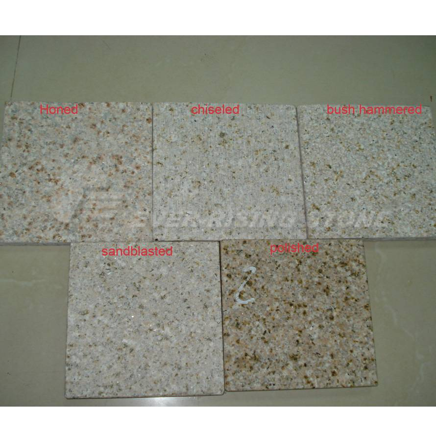 China Beige Granite Tiles, Paver, Wall Cladding, Flammed, Bush Hammered, Chiseled, Sandblasted