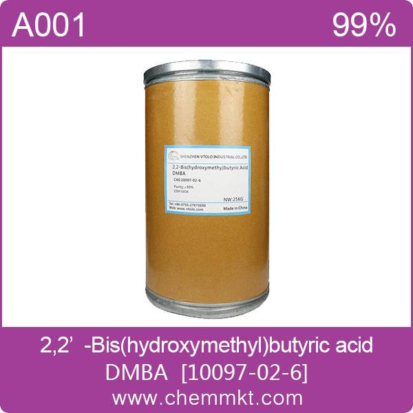 2,2-DimethylolButanoic Acid(DMBA) CAS:10097-02-6