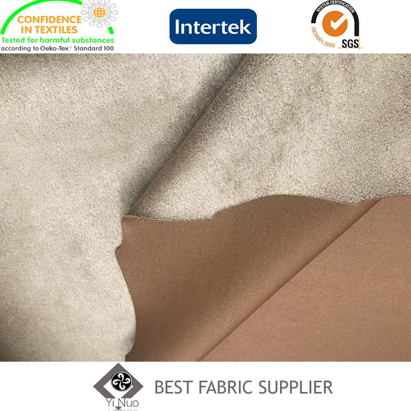 90%P 10%Sp Scuba Knitting Stretch Suede Fabric Coat Fabric