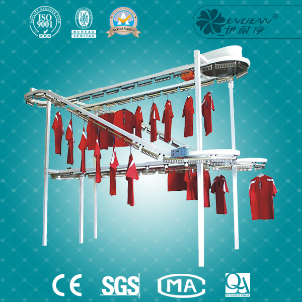 Clothes conveyor line for laundry