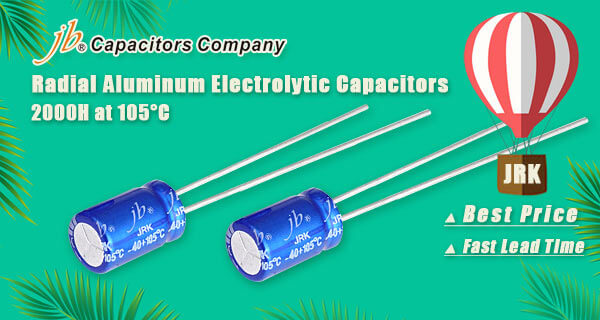 JRK - 2000H at 105°C, Radial Aluminum Electrolytic Capacitor 7mm Height