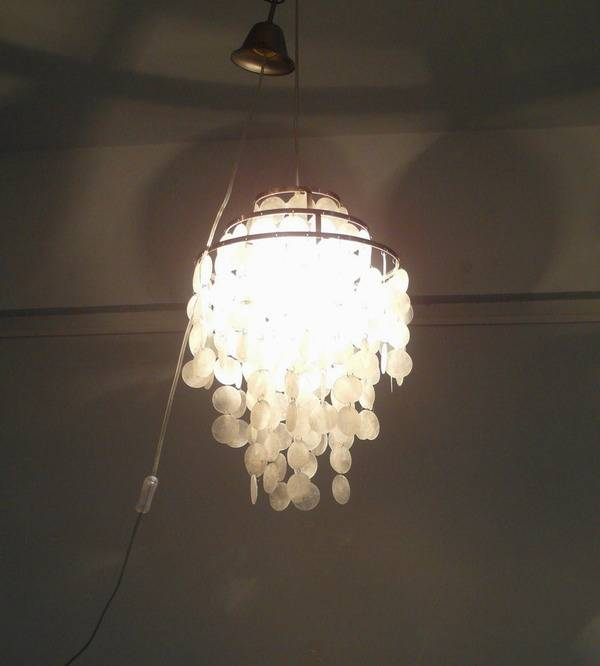 seashell chandeliers pendant lamp/white shell chandelier lamp/Capiz Shell chandelier Light/shell cha
