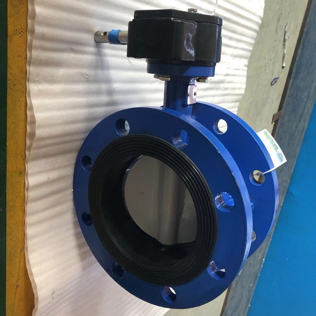 Nylon Disc Ductile Iron Flanged Concentric Butterfly Valve