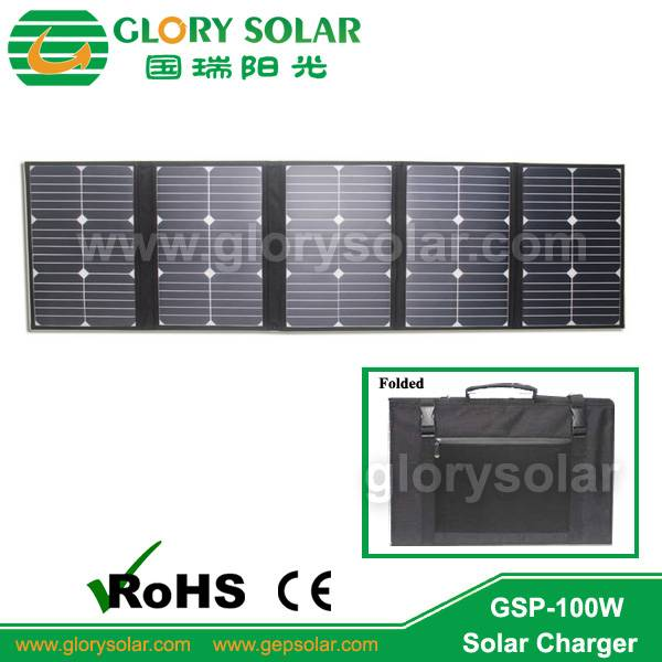 2015 hot sale 100w portable folding solar panel bag