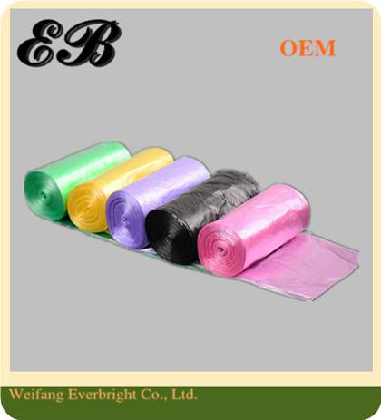 Plastic Colored Garbage Bag on Roll Garbage Bags Waste Bag Rubbish Bag