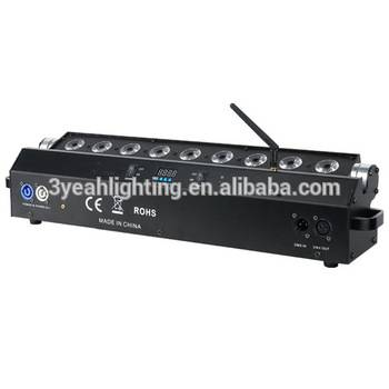 LED Wash Light for Wedding Fasion Show Music Concert or Club RGBWA 5 in 1 Wireless DMX LED Uplights