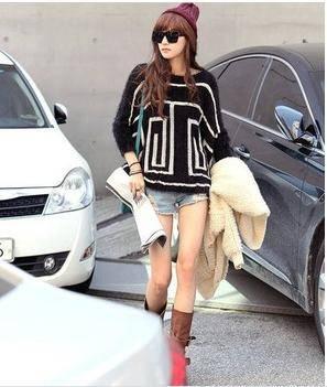 Mohair irregular sweater