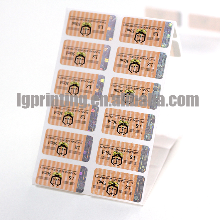 Hot printing paper self adhesive label scratch off stamping hologram