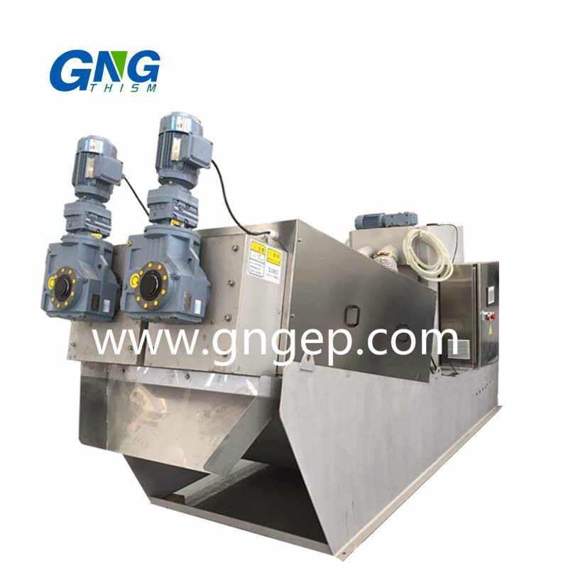Multi disc automatic dewatering screw press