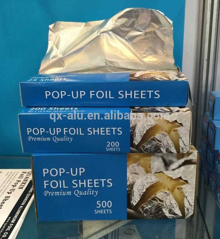 Cheap price pop-up aluminium foil sheets for different usage