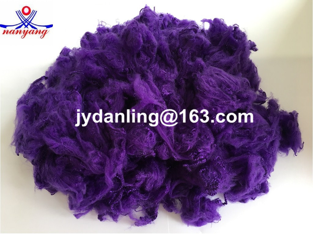 Purple Polyester Fiber for Filling Materials