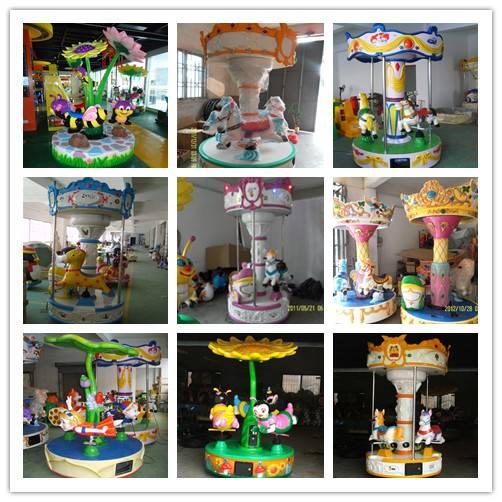 kiddie ride carousel, park rides, merry go round
