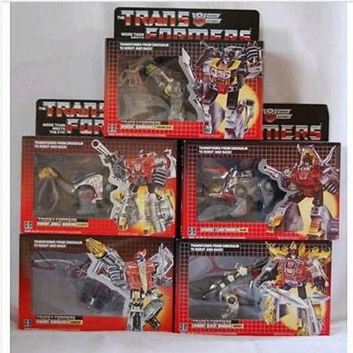 Transformers G1 TF MISB Grimlock Sludge Slag Swoop Snarl Robot Dinosaur Dinobot.