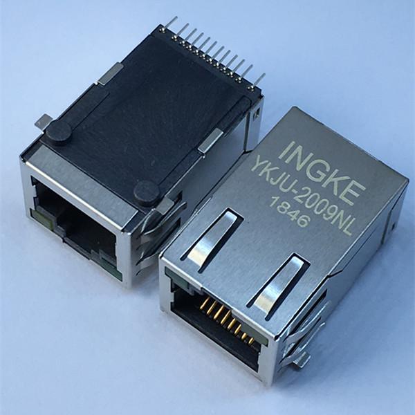 Ingke YKJU-2009NL 100% Cross J3011G21DNL 1 Port SMT 100Base-T RJ45 LAN with Transformer