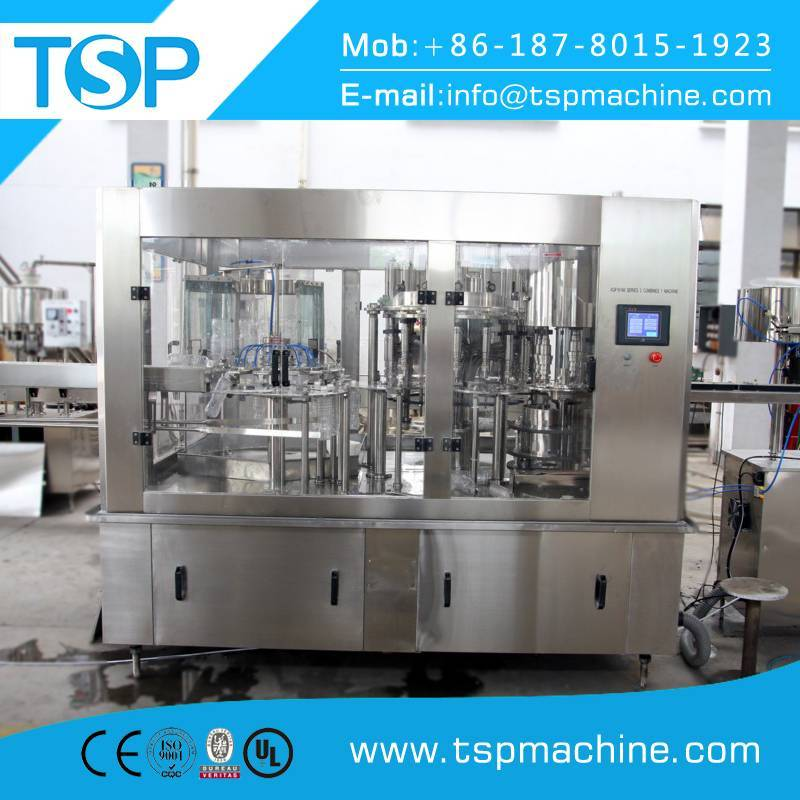 Glass bottle filling capping and sealing machine plant line for sale manufacturer