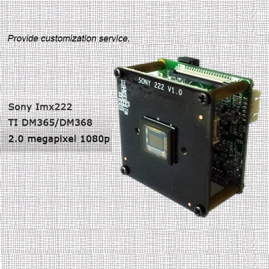 Network Camera Module Ti Solution 2.0megapixel 1080p Dm365 / Dm368 Sony Imx222