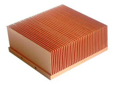 High conductivity copper convection radiator cores