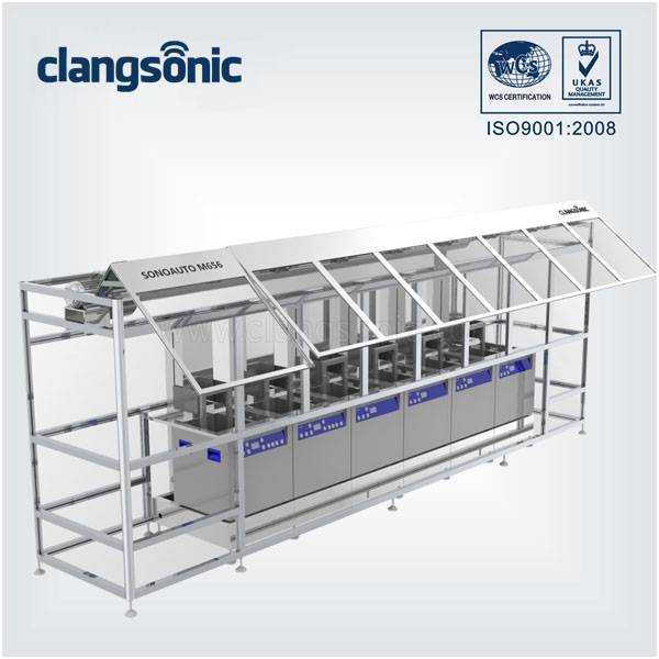 4000W High Frequency Stainless Steel Ultrasonic Cleaner With Six Tank For Ultrasonic Dishwasher
