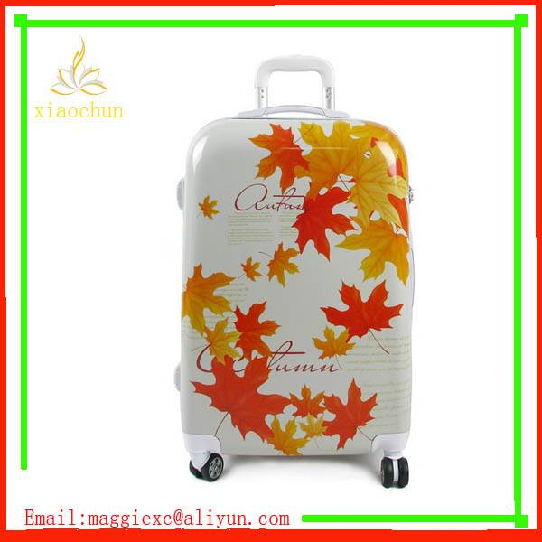 Elegant Leisure Printing PC Luggage Suitcase Trolley abs pc Luggage China Supplier