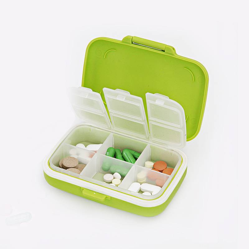 Ekoa Ek-809 Pill Organizer Pill Container Medicine Case with 6 Compartment Pill Storage Cases