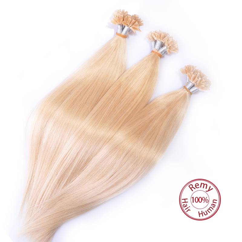 EV&ET 100% Human Hair Remy Human Hair Nail Tipped Keratin Human Hair Extension