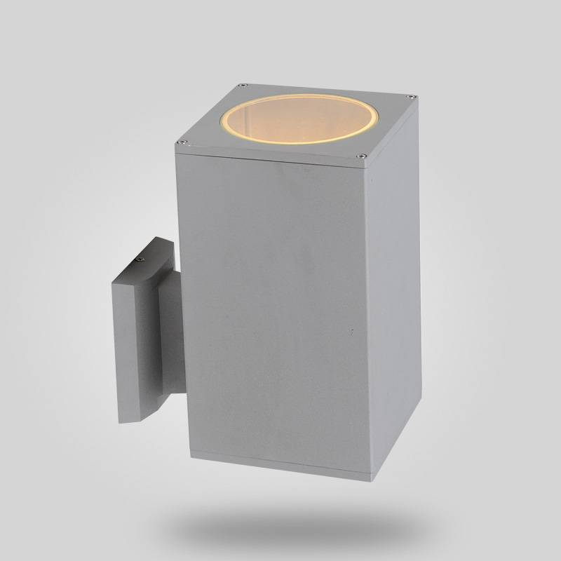 square wall light, up or down light, IP54, CE VDE SAA approved, aluminum housing with tempered glass