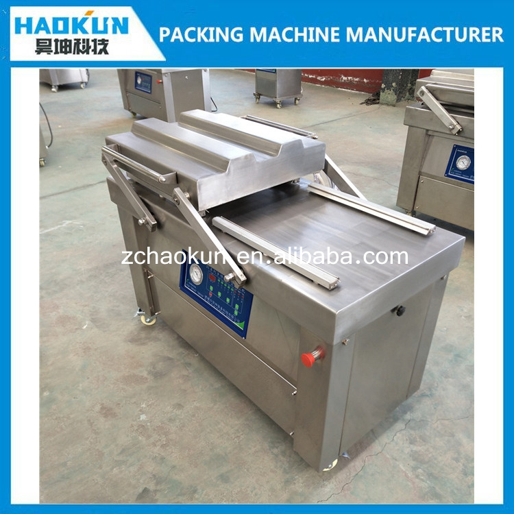 new condition factory price double chamber swing door vacuum sealer packing machine for fruits