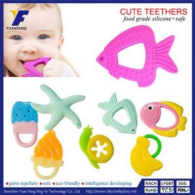Custom Kids Teething Toy Silicone Baby Teether