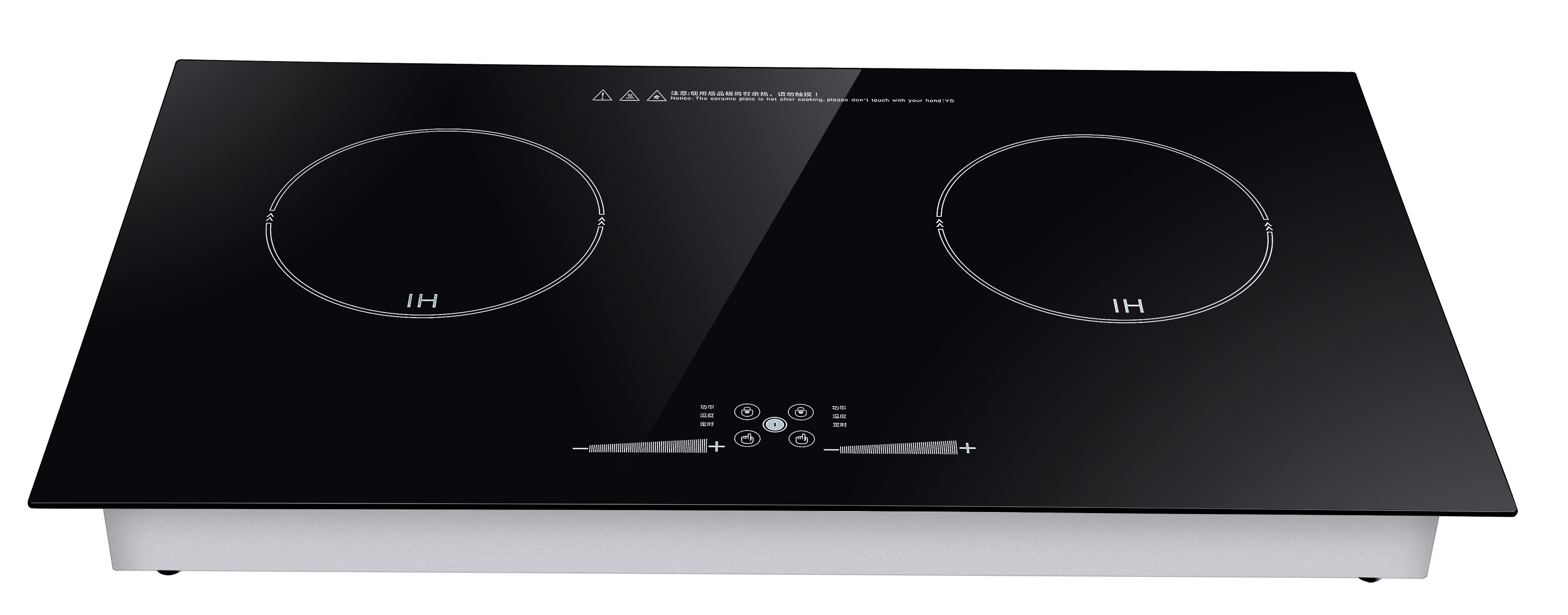 3500W Black Crystal Plate Double electromagnetic commercial induction cooker