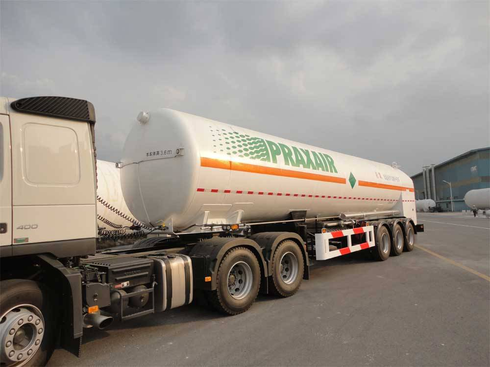 semi-trailer for LIN/LOX/LAR/LCO2/LNG