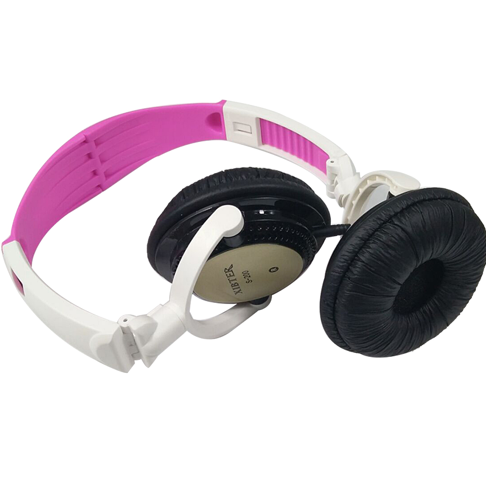 New Foldable Color Headset With Remote Microphone 3.5mm Jack Portable Music Headphone For Students