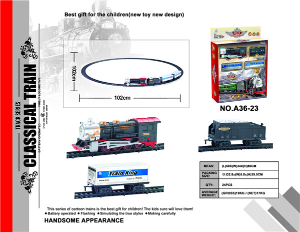 Soba plastic magic track electric toy model train with music and light