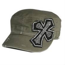 Crystal rhinestone fabric for baseball cap