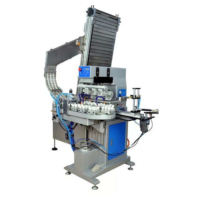 4 Colors Automatic Pad Printing Machine For Bottle Cap's Top