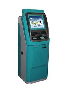 Wall mounted touch screen payment kiosk