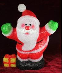 EVA&LED Christmas decorative ligts,Santa with present,xmas lights