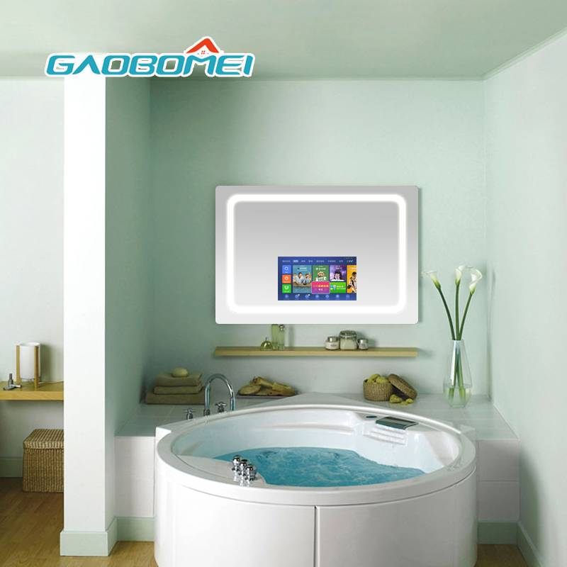 Gaobomei Customized TV Mirror appearance Wall Mounted Smart TV Mirror magic mirror digital display