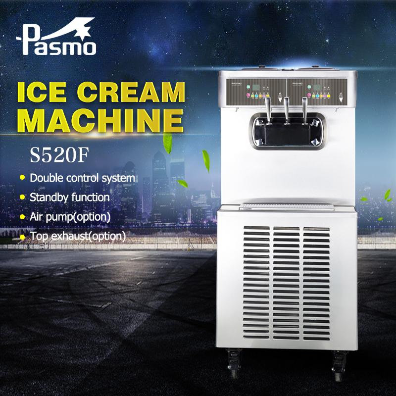 Pasmo high quality ice cream machine,soft ice cream maker,stainless steel yogurt ice cream maker