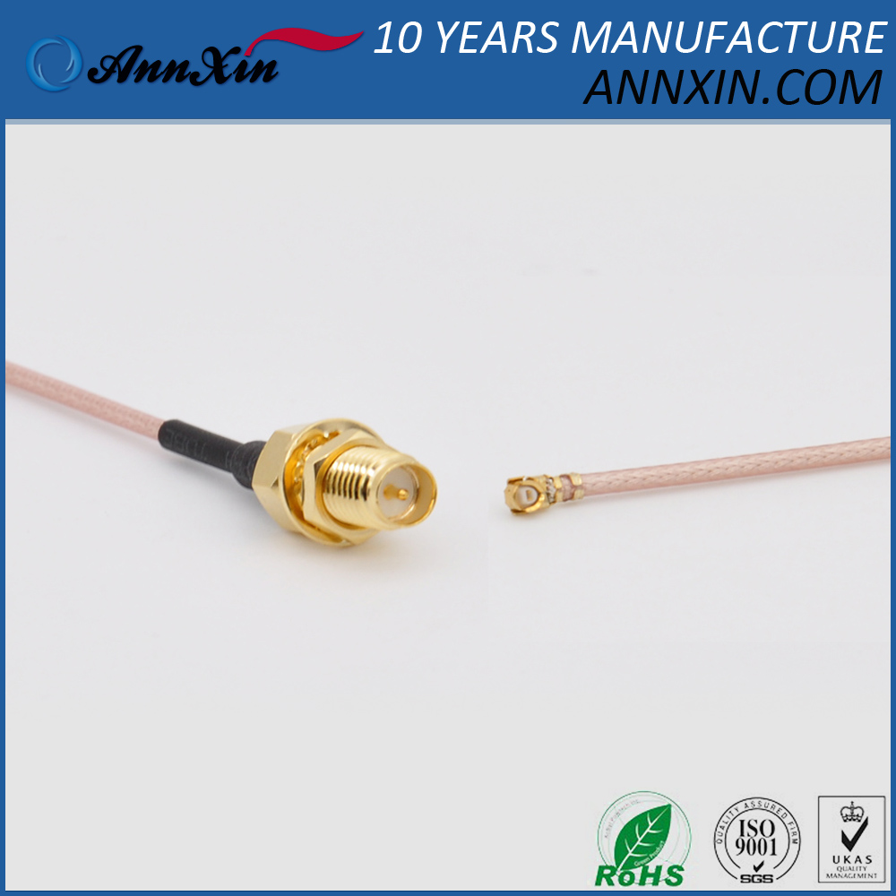 RG178 Cable Assembly - RP-SMA-F and U.FL IPEX MHF Connectors - 6inches