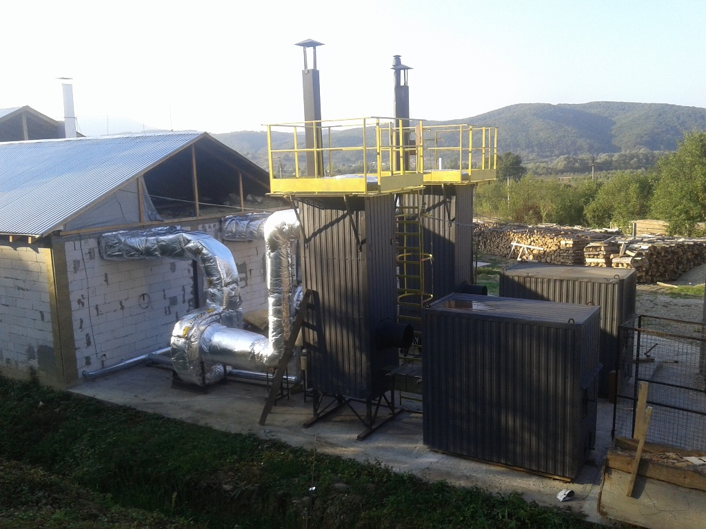 Drying complex for quick drying of technical wood or firewood